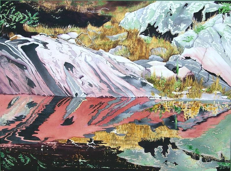 Pamela Fielding Beaver Lagoon at Jubilee Island, western Georgian Bay watercolour on paper