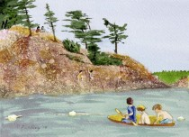 C4 - Killbear Park - Messing about in boats at Granite Saddle - Pamela Fielding