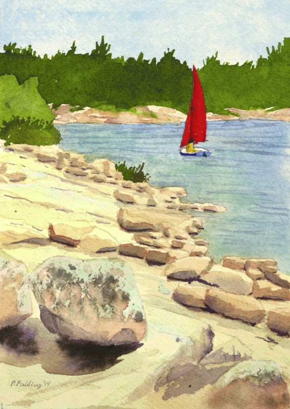 C3 - Killbear Park - Red sails - Pamela Fielding