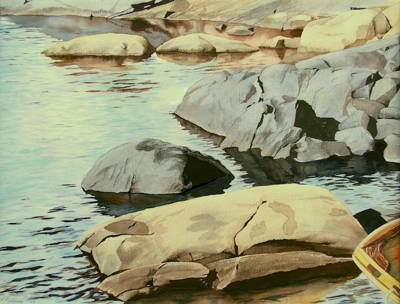 Pamela Fielding Toni's Jubilee Jubilee Island, western Georgian Bay watercolour on paper