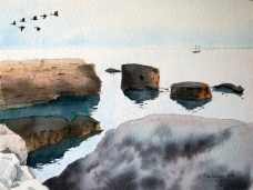 September flight of geese, Pike Bay, Bruce Peninsula